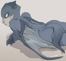 Akuma-kun: The Bat cat by Ricken-Art
