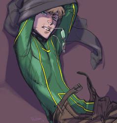 KICK-ASS: tries to save the people (and himself) by Ricken-Art