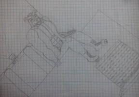 Crunch on a skycrapper by jdragon567
