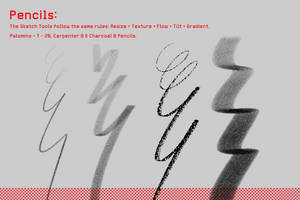 Photoshop Essentials - Pencil Brushes by Frankqbe