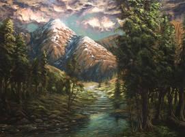 Mountain Landscape by MarioFegan