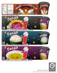Food Design Concept Art - Noodle Cups by tower015