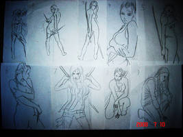 Drawing poses page 1 by Zackarra