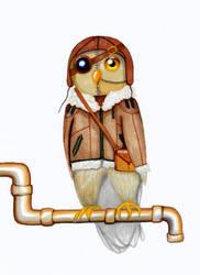 Steampunk Owl by MyWeirdImagination