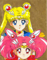 Sailor Moon and Chibi Moon by prime92