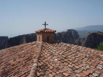 Meteora: Monastery's Roof by Lsr-stock