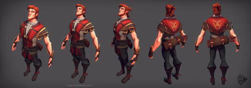 Archer in-game model by VertexBee