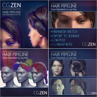 Hair Pipeline tutorial by VertexBee