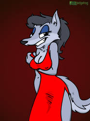 Juliana the Sexy Wolf Lady by ALhedgehog