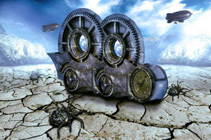 Steampunk universe - stock image by nishagandhi