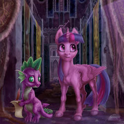 Twilight with Spike by gor1ck