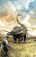 Lyss, the mighty beasts:  Arachnophant by archityran
