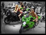 Kawasaki's and girls by John77