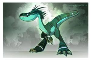 Green raptor by Dragibuz