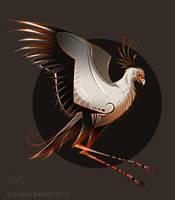 Secretary bird Style by Dragibuz