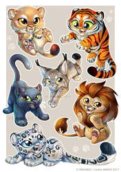 Feline Sticker by Dragibuz
