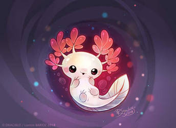 Space Axolotl by Dragibuz