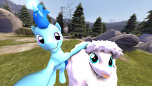 Selfie with fluffle Puff (no hud and full) by DeployerfullGeek