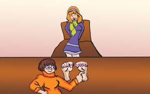 Velma tickles Daphne Version 2 by rajee