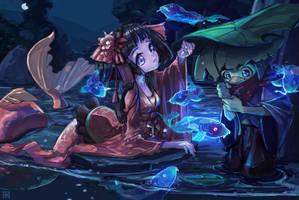 Koi Spirits | Onmyoji by AzouraArt
