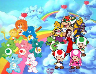 8 Other Mushroom Heroes Meets Care Bears by Joshuat1306