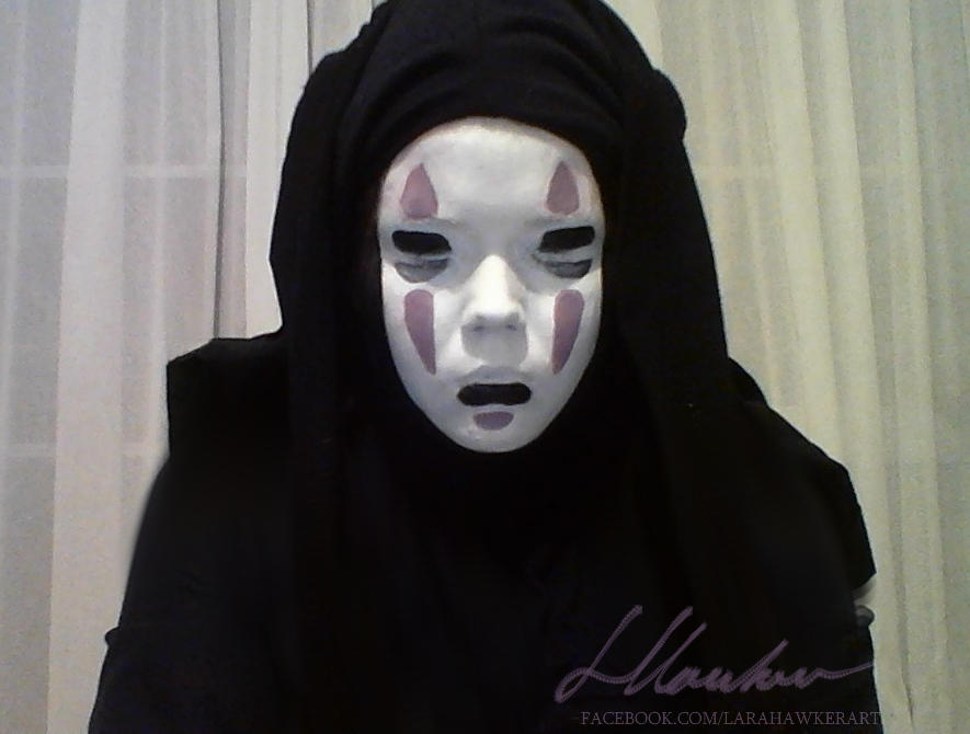 No Face - Face painting by larahawker