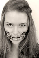 Face Painting - Skeleton by larahawker