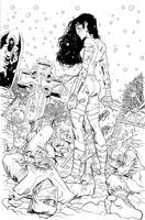 Elektra Lives Again inks by MisterHardtimes