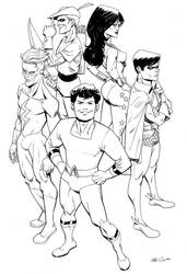 Old School Teen Titans by MisterHardtimes