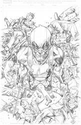 Deadpool Skrull Variant cover by MisterHardtimes