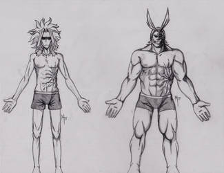 All Might Body Study by MsRoseRed