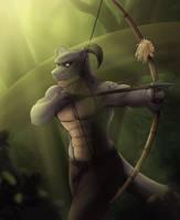 Azuryt, The Huntsman by Illogical-Lynx