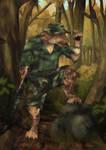Sabre, Mercenary Captain by Illogical-Lynx