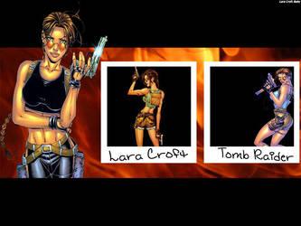 LC TR Comic Wallpaper by LaraCroftBaby