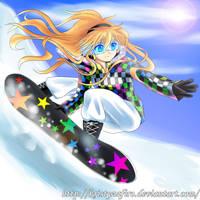 Snowboarding by kristyzafiro