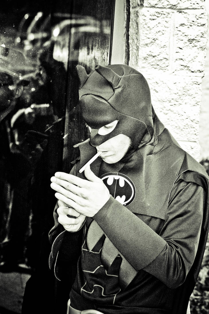 Batman Smoking by The-Prez