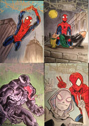 Spidey sketch cards by NJValente