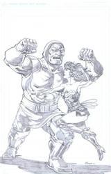 Wonder Woman Vs Darkseid by NJValente