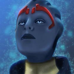 Samara from Mass Effect ! by MilleniaValmar