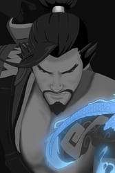 Hanzo from Overwatch by MilleniaValmar