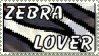Zebra Lover Stamp by topazgurl