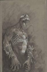 venom smile sketch by graphitenightmare