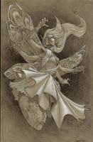 Moth Queen by graphitenightmare