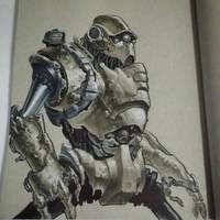 Heavy equipment robot by graphitenightmare