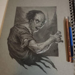sketchbook zombie by graphitenightmare