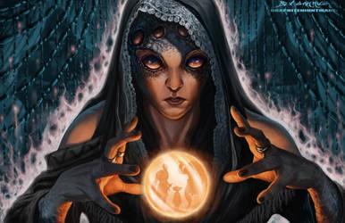 The Gypsy Widow by graphitenightmare