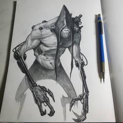 Sketchbook monster by graphitenightmare
