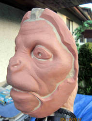 Monkey makeup sculpt by TomsCreatures