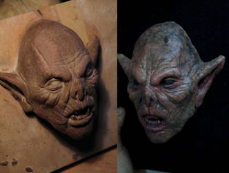 Resculpted Goblin Head by TomsCreatures