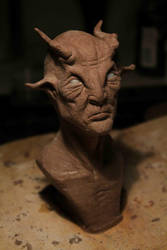 Satyr Bust WIP by TomsCreatures
